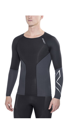 2XU Elite Compression - Camiseta Running Hombre - crew neck negro